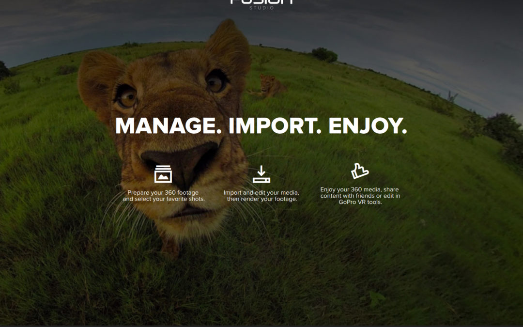 Die GoPro Fusion Studio Software ist da